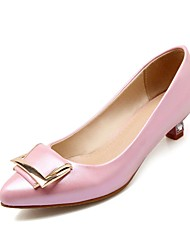 Women's Heels Summer / Fall Pointed Toe / Comfort PU Office & Career / Casual Low Heel Bowknot Pink / Gold