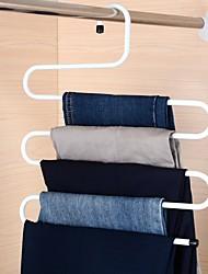 Practical Multi-Purpose 5 Layers Pants Hanger Trousers Tie Rack Space Saving