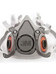 3m6200 auriculares de borracha dupla respiradores filtro de poeira do cartucho de meia máscara