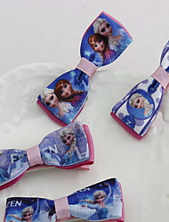 Korean Flower Girl's Frozen Fabric Hair Clip