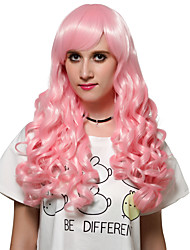 Long hair style pink hair, Europe and the United States fashion wig
