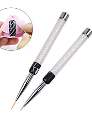 1pcs Professional New Design Salon Using Nail Art Flower Painting Brush Pen 7mm/14mm Long Nail Tools