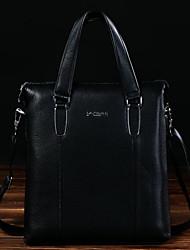 Men Shoulder Bag Cowhide Casual Outdoor Black Brown