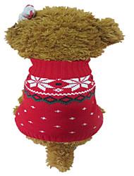 Hunde Pullover Rot / Blau Hundekleidung Winter Schneeflocke Weihnachten