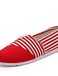 Men's Loafers & Slip-Ons Spring / Summer / Fall Comfort Fabric Casual Flat Heel  Blue / Red / Beige
