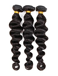 Brazilian Virgin Loose Wave Hair Weaving Natural Black 8-26 inches 3PCS/Lot 100g/pcs Raw Unprocessed Hair Wefts