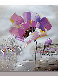 Hand Painted Flower Oil Painting On Canvas Wall Art Picture For Home Decor With Stretched Frame Ready To Hang 100x100cm