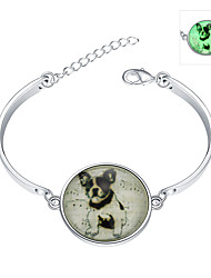 Lureme® New Magical Glow in The Dark 925 Sterling Silver Luminous Animal Bracelets