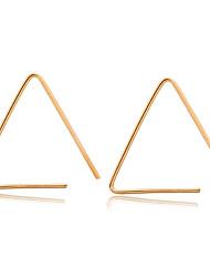 Brinco Triangular Jóias 1 par Fashion Casamento / Pesta / Diário / Casual / Esportes Liga Feminino Dourado / Preto / Prateado