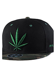 Unisex Fashion Hip Hop Weed Leaf Embroidery Baseball Caps Street Dance Caps