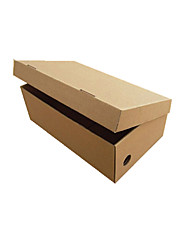 Brown Color Packaging & Shipping 1# Folding Shoe Boxes A Pack of Five