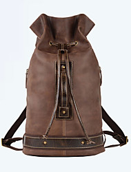 Men Cowhide Sports / Casual / Outdoor Backpack / Travel Bag / Bucket bags