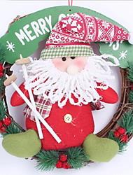 30cm Santa Claus Snowman Christmas Garland Hotel Arcade Window Decoration (Random Shape)