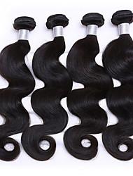 "4 Pcs/Lot 10""-26"" Body Wave  Indian Virgin Hair Human Hair Weaves Body Wave"