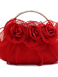 L.WEST Women's Handmade Flower Fold Evening Bag