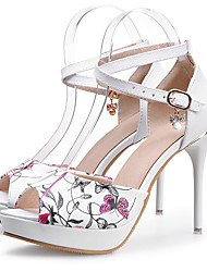 Women's Heels Spring / Summer / Fall Heels Synthetic Party & Evening / Dress Stiletto Heel Sparkling Glitter White
