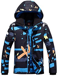 Ski Wear Ski/Snowboard Jackets Men's Winter Wear Polyester Winter Clothing Thermal / Warm Windproof Wearable Camping / Hiking