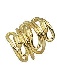 Punk Rock Gold Silver Color Braided Metal Statement Rings