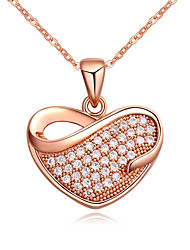 Necklace Pendant Necklaces Jewelry Party / Daily / Casual Fashion Copper / Rhinestone Gold / Silver 1pc Gift