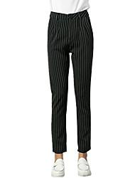 Pantalon Aux femmes Harem / Mince simple / Chic de Rue Polyester Micro-élastique
