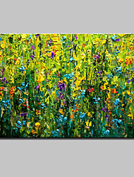 Hand Painted Modern Abstract Flowers Oil Painting On Canvas Wall Art Picture With Stretched Frame Ready To Hang