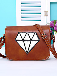 Women PU Casual Stitching Diamond Shopping Multifunction Shoulder Bag  Key Holder  Coin Purse  Mobile Phone Bag