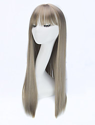 For Sale Women Wig Hairpieces Long Straight Synthetic Wigs for Women Synthetic Hair Wigs Full Head Wigs Hair Air Bangs