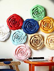 3 pcs Mix 3 Size(20cm/30cm/40cm) Rose Paper Artificial Flower for Wedding Decoration Backdrop
