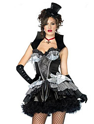 Costumes Angel & Devil / Zombie / Vampires Halloween / Christmas / Carnival / New Year Black / Gray Vintage Dress