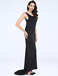 Women's Sexy Backless Solid Color Bodycon Maxi Dress