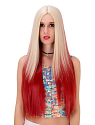 The golden red gradient long  hair wig.WIG LOLITA, Halloween Wig, color wig, fashion wig, natural wig, COSPLAY wig.