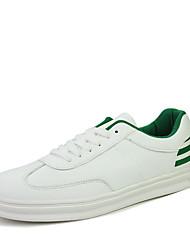 Femme-Bureau & Travail / Sport / Décontracté-Noir / Vert / Blanc / Argent-Talon Plat-Confort-Sneakers-Cuir