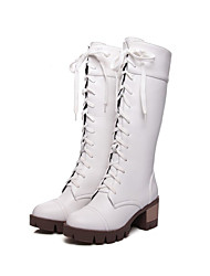 Women's Boots Fall / Winter Snow Boots PU / Leatherette Outdoor / Dress / CasualBlack / Brown / White Others