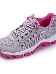 Women's Sneakers Spring Summer Fall Winter Comfort Tulle Athletic Flat Heel Others Purple Red Gray Hiking