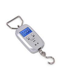 balança eletrônica portátil (escala máxima: 50 kg, prata)
