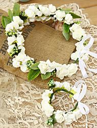 Flower Girl's Foam Headpiece-Wedding / Special Occasion Headbands 2 Pieces (Head and Wrist Set)