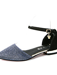 Women's Flats Spring / Fall Comfort PU Casual Flat Heel Others Black / Blue / Gray / Gold Others