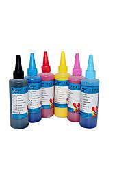 100ml de tinta de impressora, um pacote de 6boxes, cada caixa cores diferentes, preto, azul, vermelho, amarelo, azul claro