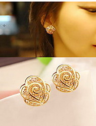 Earring Heart Stud Earrings Jewelry Women Fashion Daily / Casual Sterling Silver 1 pair Gold