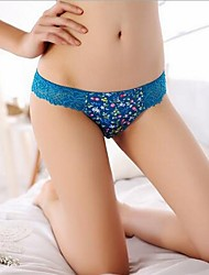 New Arrival Cute Stuffed Women Underwear Floral Panties Fresh Brief For Lady Six Color Free Shipping