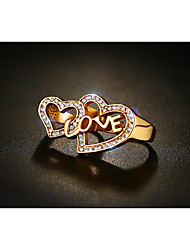 Rock Retro Drawing Titanium Steel Ring LOVE
