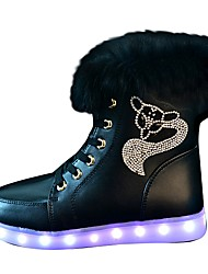 Women's Shoes Libo New Style Flashy Night Club Casual / Outdoor Comfort Fashion Snow Boots Black / White