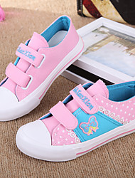 Girl's Flats Spring Summer Fall Flats Canvas Casual Flat Heel Magic Tape Blue Pink Others