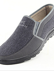 Men's Loafers & Slip-Ons Fall Cotton Casual Flat Heel Others Gray Coffee Other