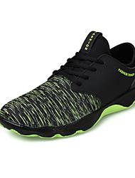 Femme-Extérieure / Sport-Bleu / Vert / Noir et blanc-Talon Plat-Confort-Sneakers-Tissu