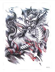 1 Tatuagem Adesiva Séries Animal Non Toxic / Estampado / Lombar / WaterproofFeminino / Masculino / Adulto Flash do tatuagemTatuagens