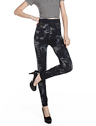 Women Print / Denim LeggingCotton / Spandex