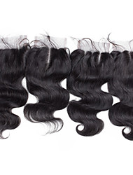 8inch to 20inch Black Full Lace Wave Human Hair Lace Closure Medium Brown Swiss Lace about 30g gram Average Cap Size
