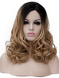 linge dans de longs cheveux bouclés et le vent discothèque rue des performances couleur millions perruque partielle.