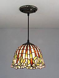 25W Lampe suspendue ,  Traditionnel/Classique / Tiffany Peintures Fonctionnalité for Style mini Métal Entrée / Couloir